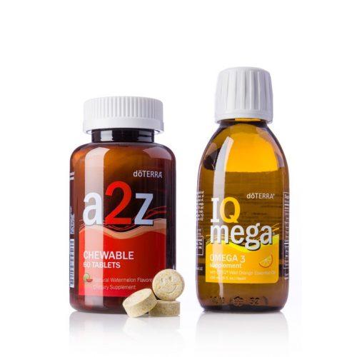 dōTERRA Omega-3 halolaj és a2z rágható tabletta csomag