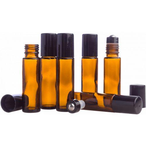 10 ml-es borostyánszínű golyós üveg - 1 db